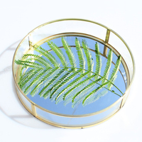 Round Glass Geometric Terrarium Box Tabletop Succulent Plant Planter Box 25 X 25 X 5cm