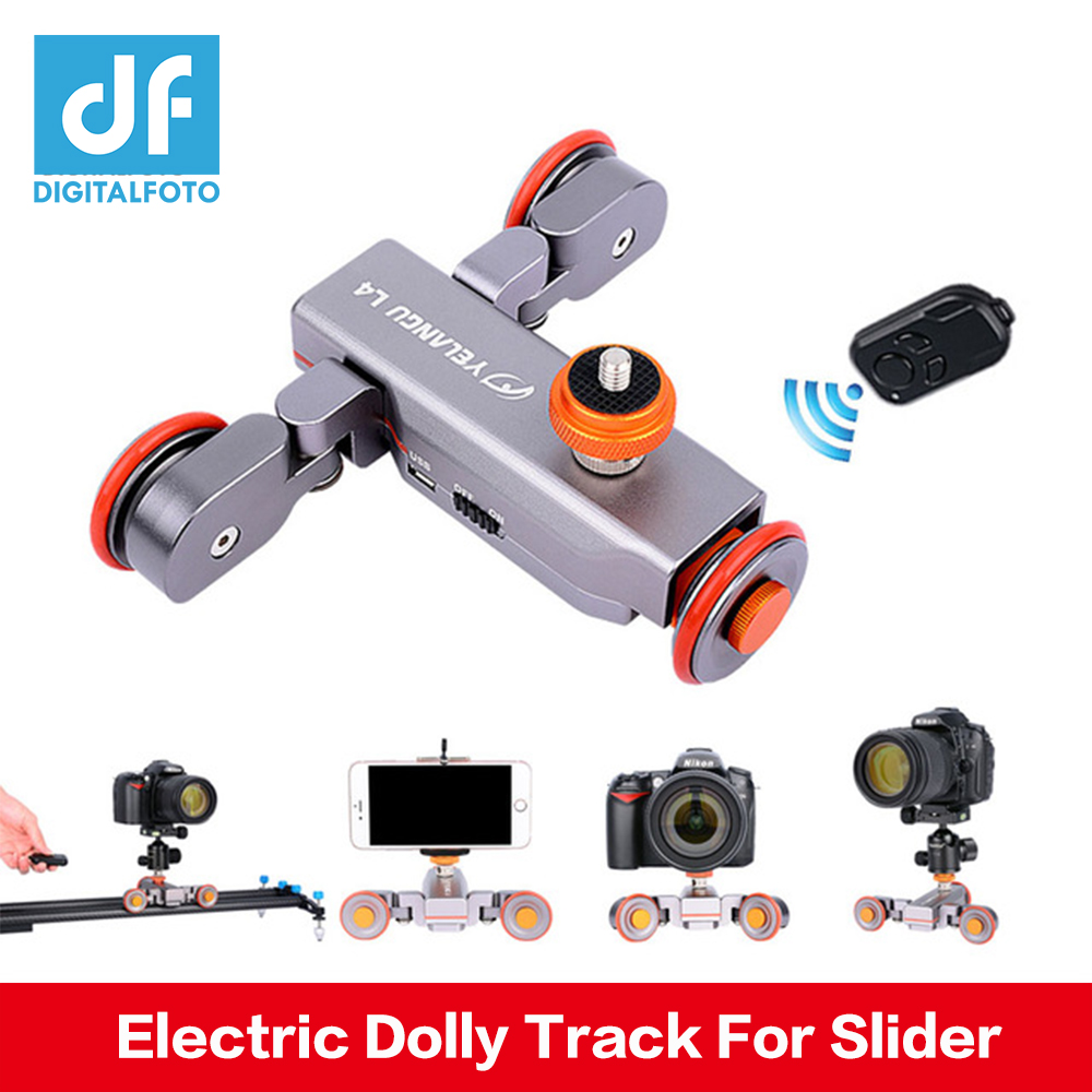 DIGITALFOTO Wireless Remote camera Motorized Dolly Car for DSLR Electric Track Slider Video Pulley Rolling Skater цена и фото