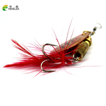 10pcs Fishing Lure Metal Spinner Bait Blade 5.3g Spinnerbait Bass Bait Fishing Gear Isca Artificial Copper Spoon Fishing Tackle
