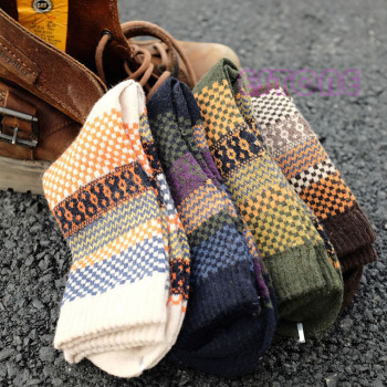 4Pair Mens Soft Thick Angora Cashmere Casual Rabbit Wool Blend Warm Winter Socks - discount item  17% OFF Men's Socks