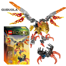 Building-Block-Toys BIONICLE Creature Guduola for Boy 77pcs Best-Gift Fire-609-4 of Ikir