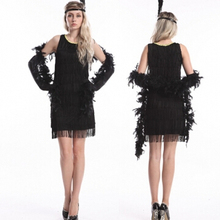 Sexy Womens Costume Dress Adult 20s Flapper Costume Womens 1920s Fancy Dress  Party Classic Dancing Costume c8faf56fc189