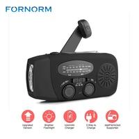 New Portable Solar Radio FM Hand Crank Self Powered Phone Charger 3 LED Flashlight AM FM