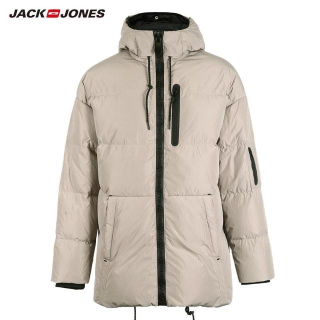 JackJones hommes hiver à capuche canard doudoune mâle décontracté mode manteau 2019 flambant neuf homme 218312531 4