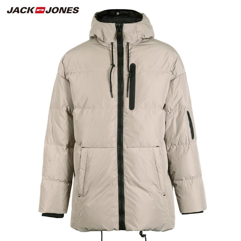 JackJones Men's Winter Hooded Duck Down Jacket Male Casual fashion Coat 2019 Brand New Menswear 218312531