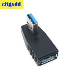 Image 5 - Cltgxdd Haakse USB3.0 Jack Socket L Vorm Adapter Converter USB 3.0 A Male naar EEN Vrouwelijke 90/180 Graden Plug down Connector