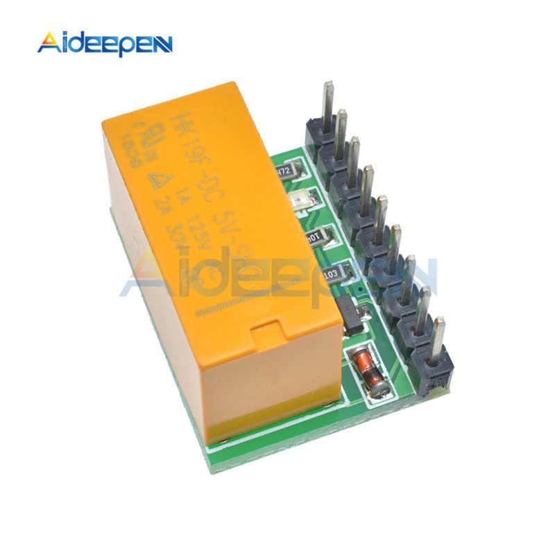 Мини DC 5 в 12 В DPDT релейный модуль, двойной полюс, двойной переключатель, плата обратной полярности для Arduino UNO Raspberry Pi