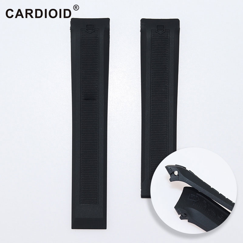 Silicone Strap For TAG Heuer Series Watch Band Bracelet Watchband For TAG Heuer Watch Strap Band 4/3/2 20mm Sport Wristbands-in Watchbands from Watches