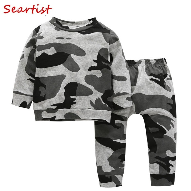 31e7eeadb Seartist Baby Boys Camouflage Clothing Set Sweatshirt+Pants Kids Camo  Pullover Jogger Set Sweater Sets Baby Boy Clothes 2019 19C