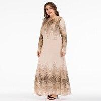 6c6df2edc 2018 Abayas Muslim Dress Dubai Abaya Geometric Marokkaanse Kaftan Islamic  Dresses For Women Vestidos 3XL 4XL