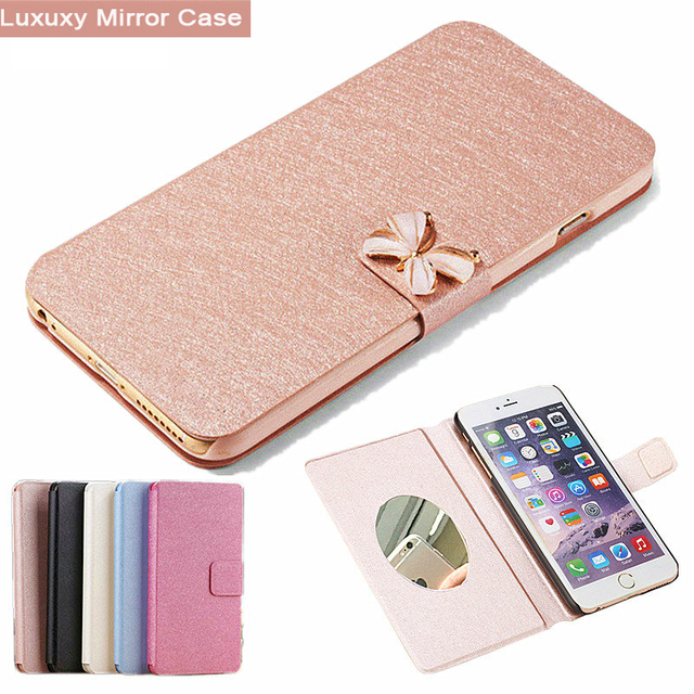 For Huawei V9 Play Case Huawei Honor V9 Play Case PU Leather Cover Phone Case For Huawei V9Play/ Honor 6C Pro Case Flip Mirror