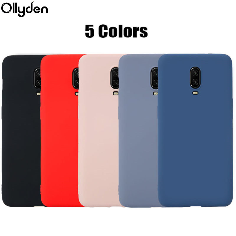 For Oneplus 6T <font><b>Case</b></font> Original Liquid Silicone Rubber TPU <font><b>Case</b></font> Cover for Oneplus 6T <font><b>One</b></font> <font><b>Plus</b></font> 6T <font><b>6</b></font> Six Capa Fundas Protective Shell image