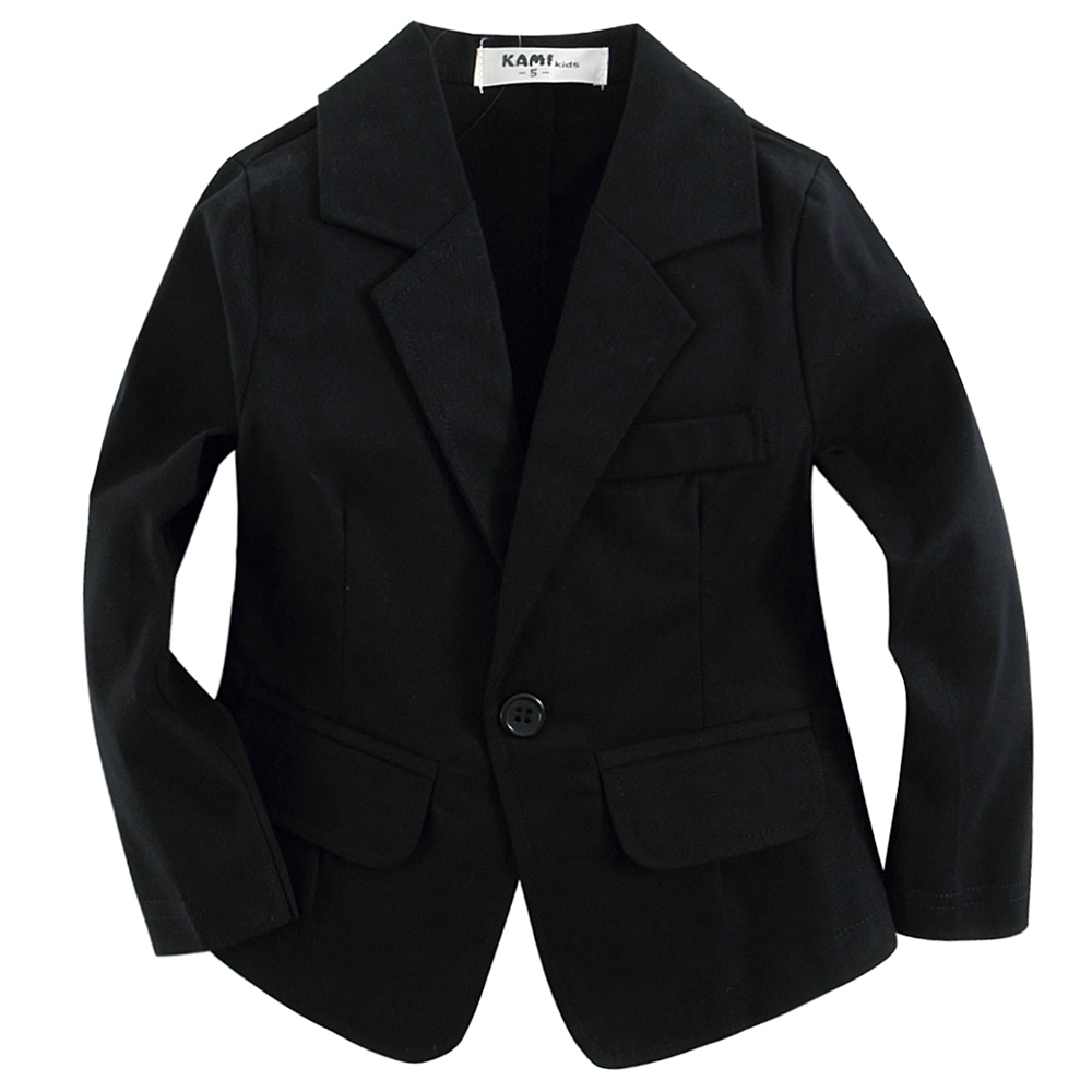 new arrival woven cotton 100%  toddler BOY blazer BB151202G B solid  Black