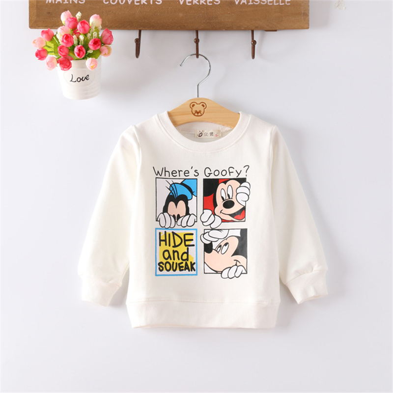 Autumn Cartoon Mickey Baby Boys T-Shirt Cotton Long Sleeve Children Tshirt Clothes Kids TeesT-shirt Clothing for 1-4 Years new baby girls boys mickey clothing sets kids autumn character cotton long sleeve shirt pants suit children set for 1 4 years