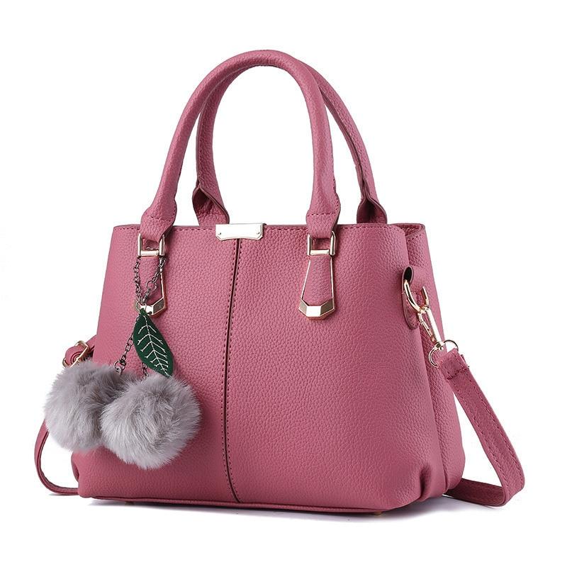 Dark Pink Casual Fashion Women Handbag High Quality PU Multifunction Crossbody Messenger Shoulder Bag Zipper 2017 high quaitily casual fashion 014