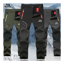 MAZEROUT Mann Winter Angeln Wasserdichte Camping Trekking Fleece Outdoor Wandern Hosen Klettern skifahren Softshell Hosen Reise 6XL