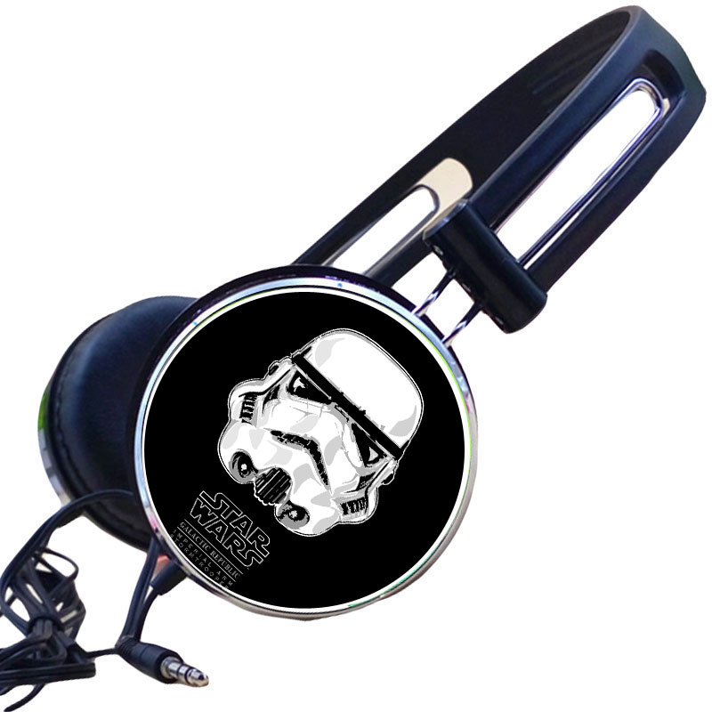 Custom Star Wars Imperial Stormtrooper Army Shock Magma Headphone Adjustable Sport Headphones Gaming Headset Stereo Headphone image