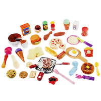 50Pcs Set Kids Miniature Kitchen Set Pretend Play Toys Plastic Cutting Cook Food Cosplay Educational Toy