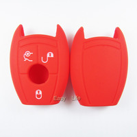 SILICONE Red Samrt CAR KEY Cover For MERCEDES Benz A B C E R S ML