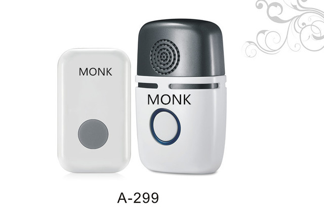 Wireless Doorbell Award Winning Modern Design By Monk Long Range Door Chime Expandable To One