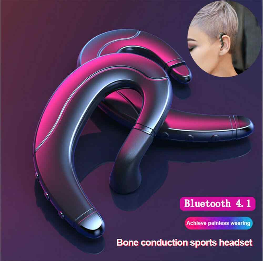 Wireless Bluetooth Earphones 4.1 Bone Conduction Headphones Sports Stereo Music Headset Compatible For Iphone Xiaomi
