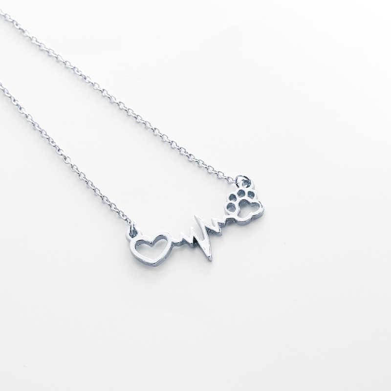 Lifeline пульс, сердцебиение Шарм открытая подвеска сердце шармы щенок Лапы подвеска в форме домашнего животного спасение собак ювелирные изделия