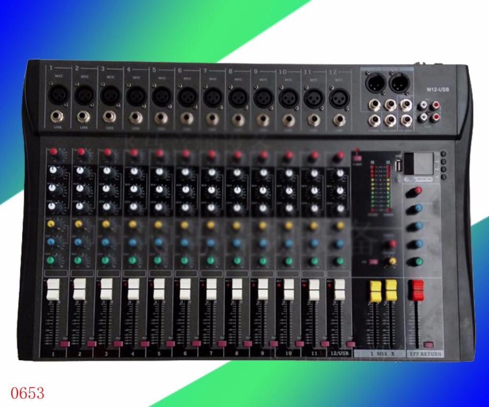 Professional USB color display, mixer, 4/6/8 Road, stage performance effects audio mixer cms1600 3 cms compact mixing system professional live mixer with concert sound performance digital 24 48 bit effects