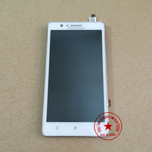 100% Guarantee Working White Full LCD Display Touch Screen Digitizer Assembly For Lenovo A536 With Frame Replacement