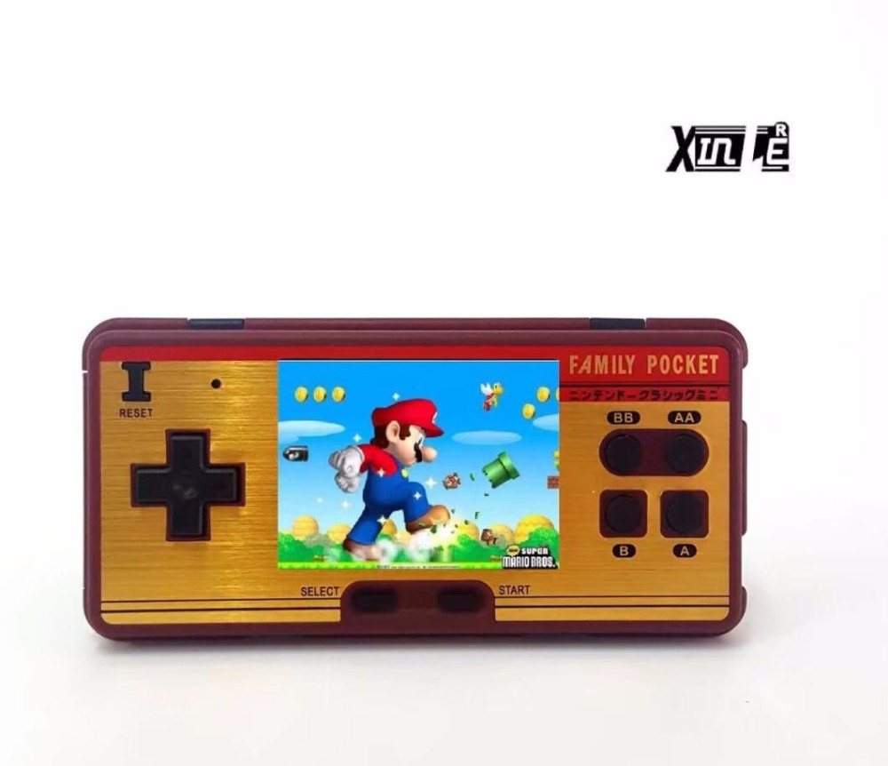 "3.0"" LCD Classic Retro Game Console video games Built-in 638 Classic FC Games Support 2 Players TV-Output"