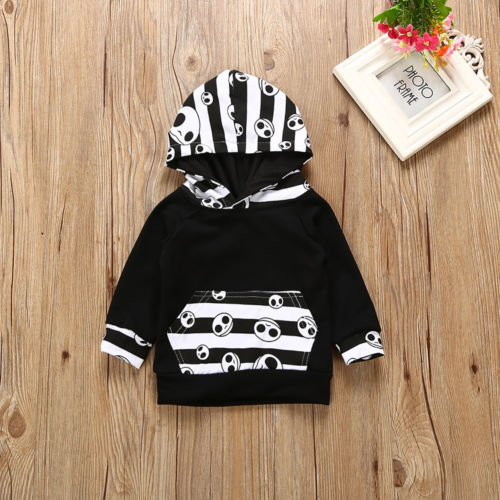 Halloween Fashion Baby Clothing Toddler Baby Boys Tops Hoodie Pants Home Outfits 2Pcs Set Clothes 0-2T