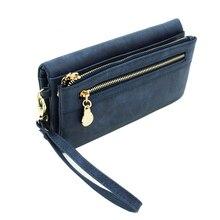 High Capacity Fashion Women Wallets Long Dull Polish PU Leather