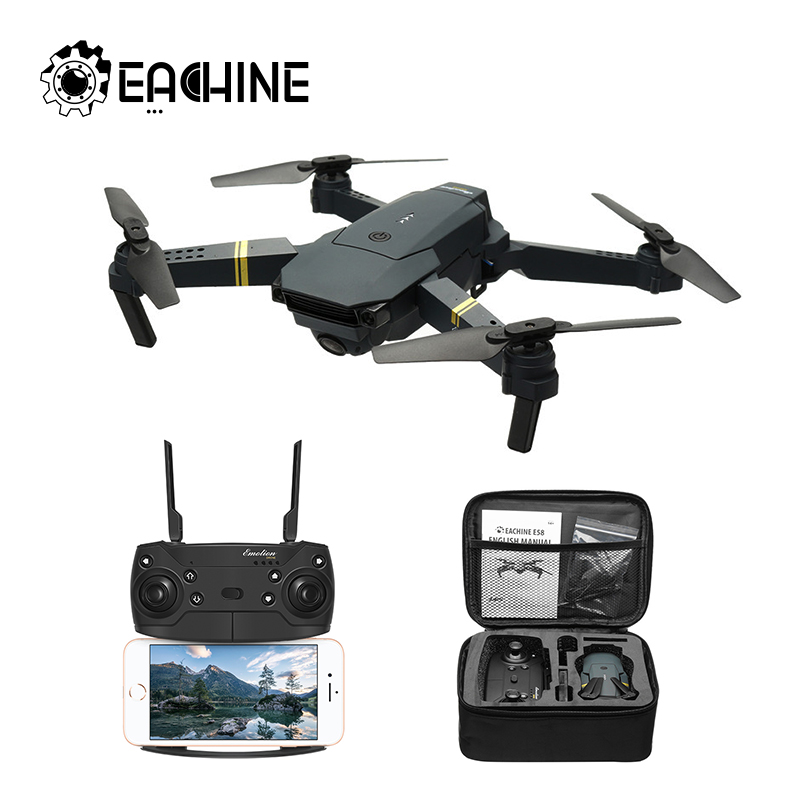 Eachine E58 WIFI FPV con 720 P/1080 P cierto ancho ángulo de cámara HD modo de alta retención plegable brazo RC Drone Quadcopter RTF VS S9HW M69