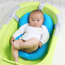 Portable Newborn Baby Cartoon Non-Slip Bath tub Pad Seat Infant Safety Shower Support Air Cushion Soft Bed Chair Shelf