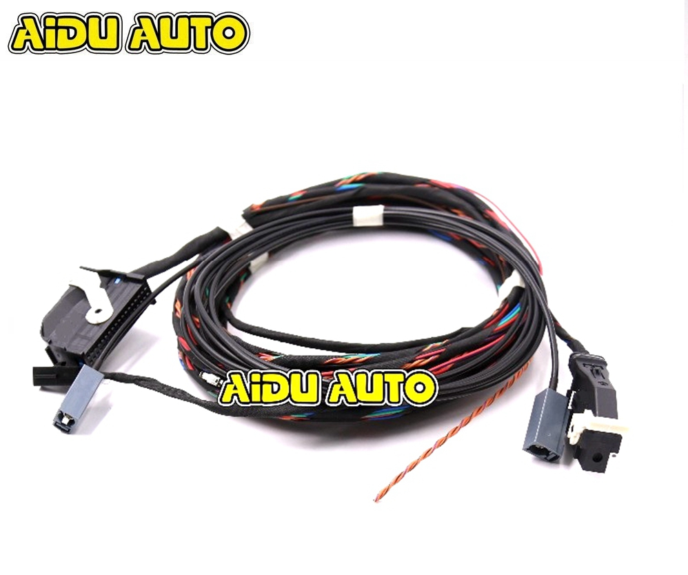 Rear High Line AV Camera KIT With Guidance Line Install harness Wire Cable For VW Tiguan 5N0907441A 5N0 907 441 A