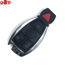 جهاز تحكم عن بعد ذكي بأربع أزرار من HKOBDII لمفتاح السيارة 315/433 ميجاهرتز لسيارة Mercedes Benz MB 2000 + NEC BGA مفتاح تحكم عن بعد مع شفرة + شعار