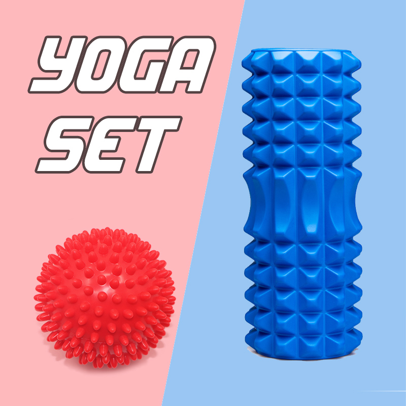 Yoga Column Foam Yoga Pilates Fitness Foam Roller Sports Train Gym Massage Exercise Relax Foam Rolls Massage Ball Spiky