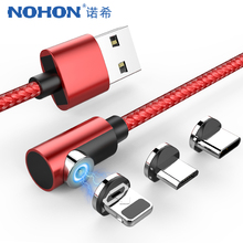 NOHON 3 in 1 Magnetic USB Charger Cable For iPhone X 7 8 6 P