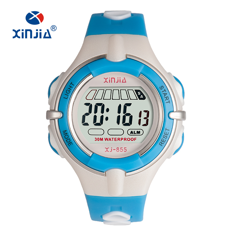 Digital Jelly Fashion Watches For Children 3bar Water Resistant Sport Swimming Diving Women  Boy And Girl Wristwatch Dual Color