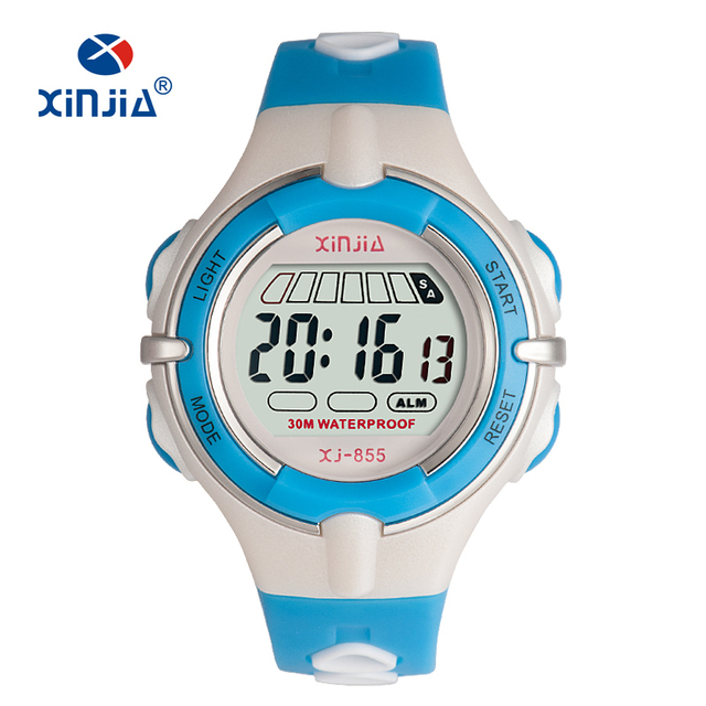 Digital Jelly Fashion Watches For Children 3bar Water Resistant Sport Swimming Diving Women Boy And