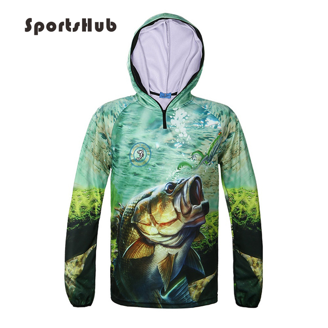 SPORTSHUB Ultra-Light Hooded Fishing Clothings Quick Dry Sun Protection Fishing Shirts Anti-UV  Fishing Clothes Vest FT0071