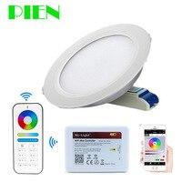 Светильники Milight светодиодный светильник спот Wi Fi RGB + CCT двойной белый + RF Remote + Wi Fi хаб Управление 6 Вт 12 Вт 10 шт. по DHL