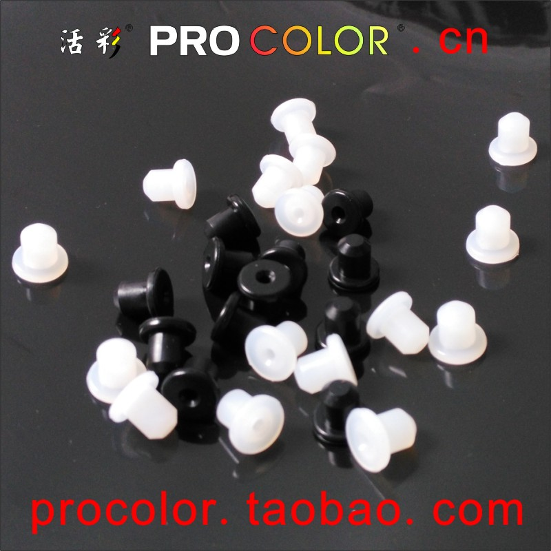 OEM Custom made big button switch waterproof rubber cap button round black rubber flashings for 7mm 17/64 silicone stopper Hole