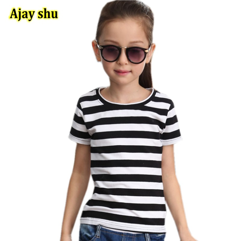 T-Shirt Baby Girls Boys Little Striped Cotton Summer And