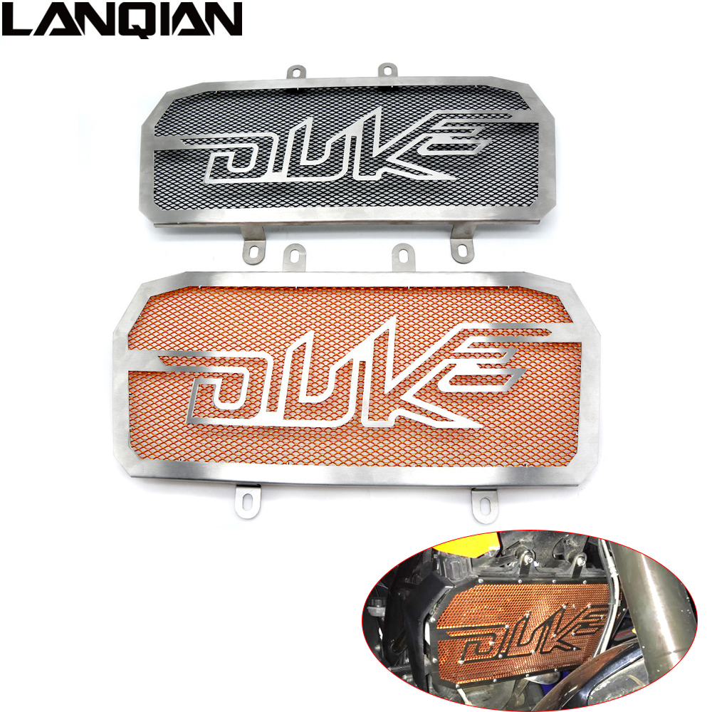 Motorcycle Stainless Steel Radiator Guard Protector Grille Grill Cover For KTM Duke 125/200/390 2012 2013 2014 2015 2016 2017 motorcycle stainless steel radiator guard protector grille grill cover for kawasaki z750 2010 2011 2012 2013 2014 2015 2016