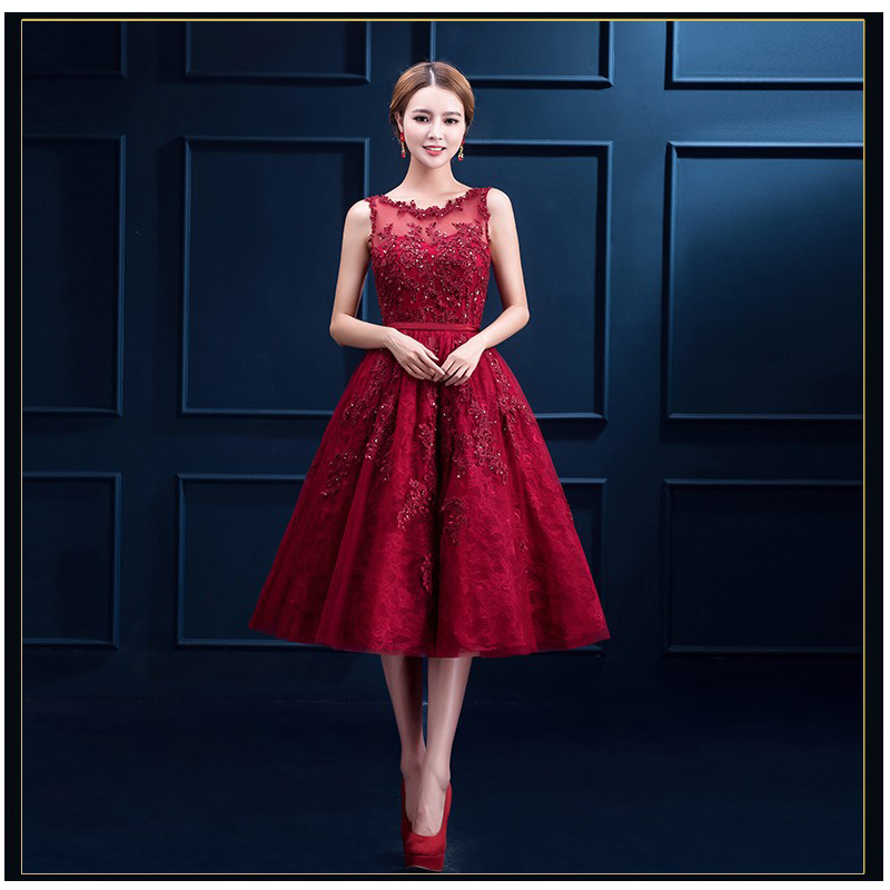 PotN'Patio High Quality 6 Layers Luxury Appliques And Beading Elegant Short Prom...
