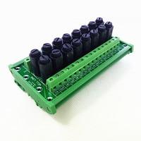 Fuse Module,DIN Rail Mount 16 Channel Fuse Power Distribution Module Board.