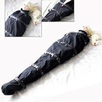 camaTech PU Leather Full Body Bondage Bag BDSM Binder Straitjacket Sleeping Sack Fetish Slave Restraints Body Harness Adult Game