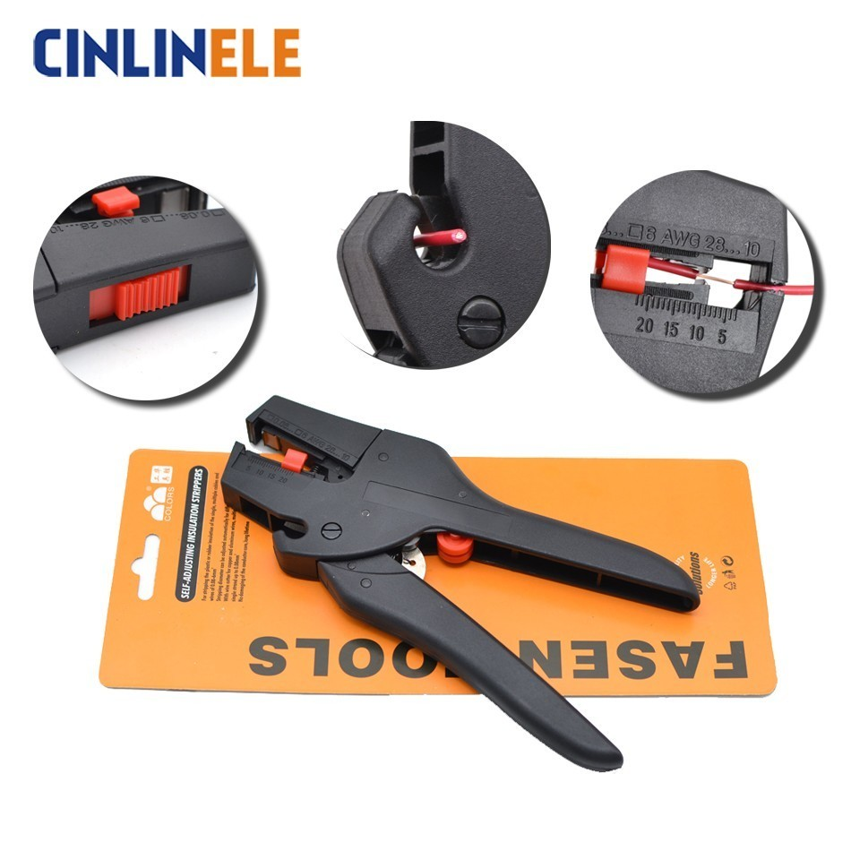 FS-D3 0.08-2.5mm 28-13AWG Automatic Cutter Cable Scissors Wire Stripper Pliers