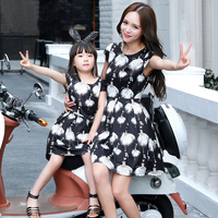 Princess Dress Girls Costumes Elegant Dress Full Sleeve Girls Dress Mom And Daughter Dress Summer 2018