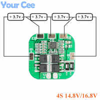 4S 14.8V 16.8V Protection Board Li-ion Lithium Battery 18650 Charger PCB BMS PCM Charging Board 10A